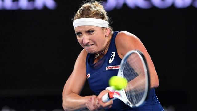 Timea Bacsinszky durant il turnier da tennis Australian Open