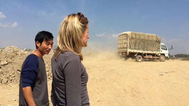 Barbara Lüthi im Grenzgebiet zwischen China und Myanmar.