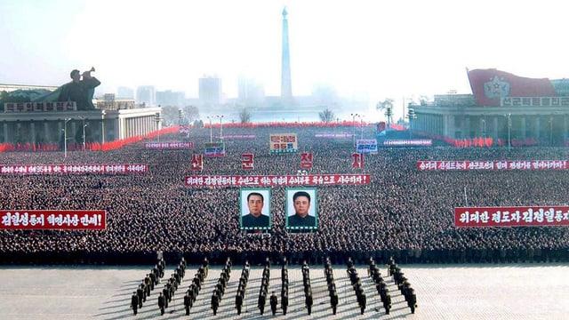 Ina parada a Pjöngjang.