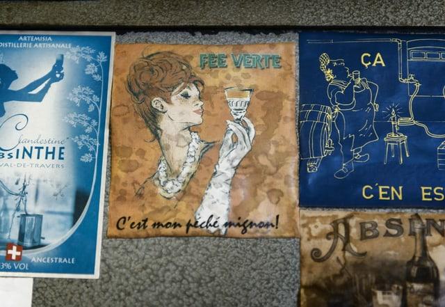 Werbeposter für Absinth