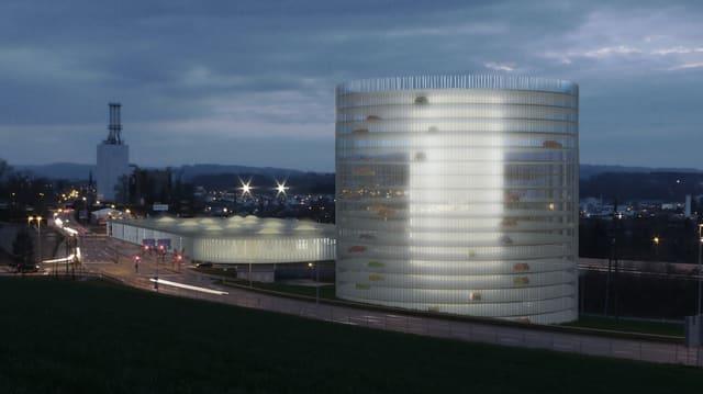 Visualisierung des möglichen Parkhauses bei der Reussegg