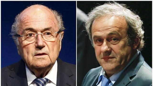 Blatter und Platini.