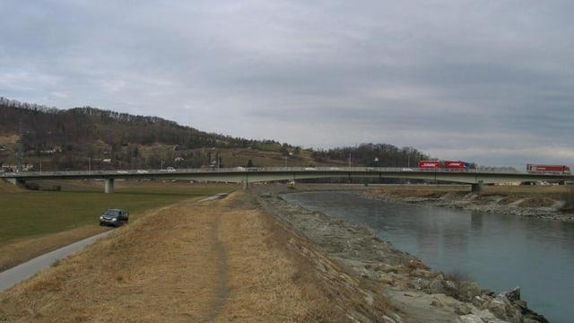 Die Rheinbrücke zwischen Au und Lustenau