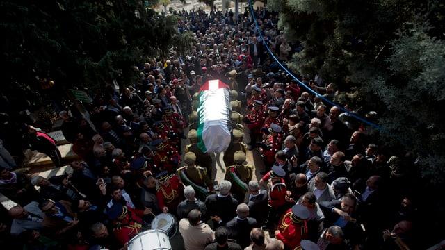 Begräbnis von Abu Ain.