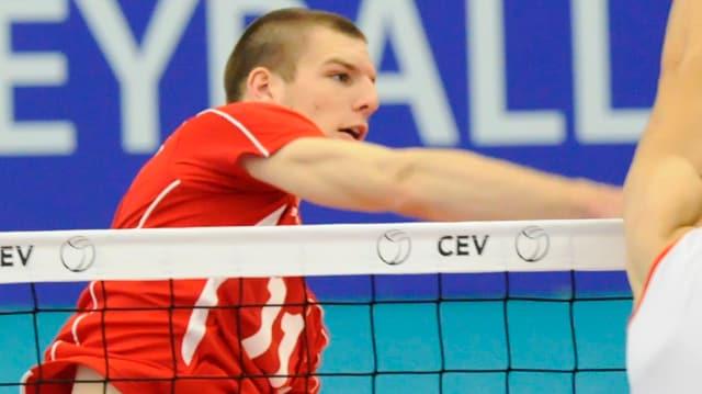 Sébastien Steigmeier mit einem Angriff