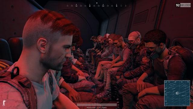 100 Menschen sitzen (noch unbewaffnet) in einem Flieger.