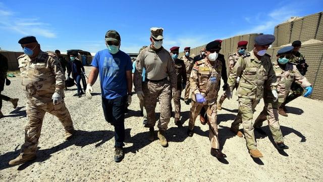 Rückzug aus Irak: US-Marines übergeben am 4. April 2020 die Al-Taqaddum-Luftwaffenbasis im Westen Bagdads ans irakische Militär.