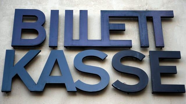 Schild der Billettkasse am Theater Basel.