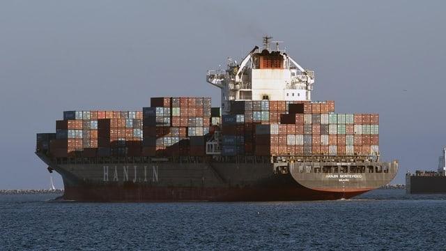 Grosses Handelsschiff Hanjin