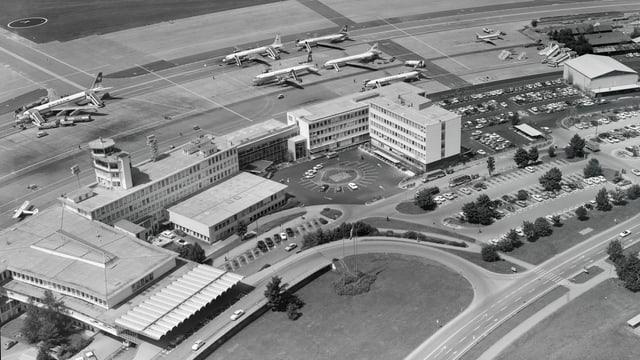 Luftaufnahme Flughafen.