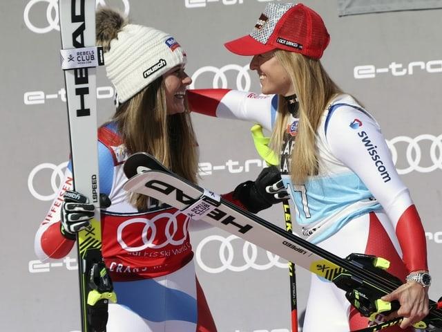 Corinne Suter und Lara Gut-Behrami.
