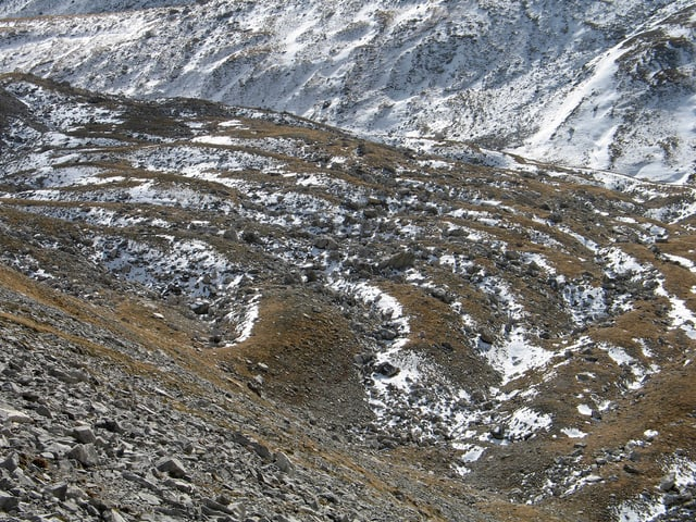 Blockgletscher in Graubünden