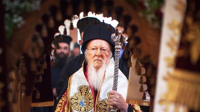 Bartholomaios I. bei der Synode in Kreta.