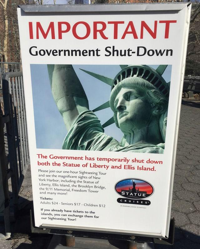 Ausgerechnet die Freiheitsstatue ist nicht mehr frei zugänglich.