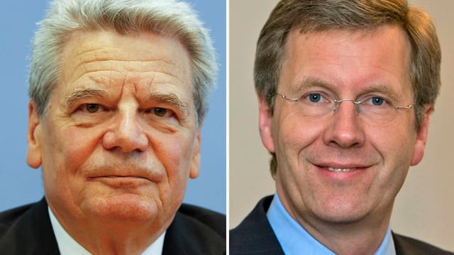 Gauck (links) und Wulff (rechts)