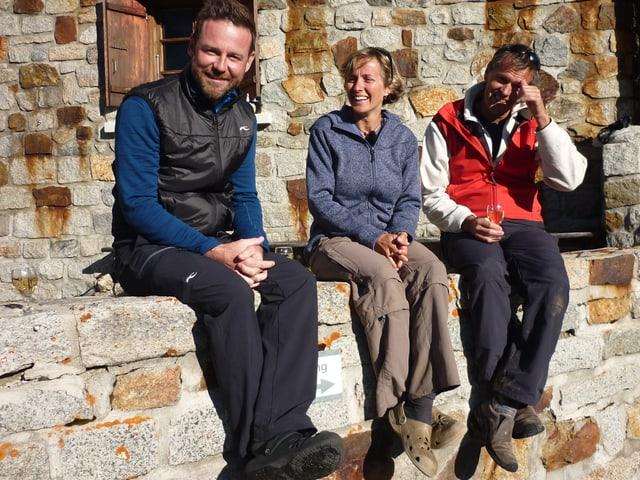 Nik mit Peter und Debi Schwitter.