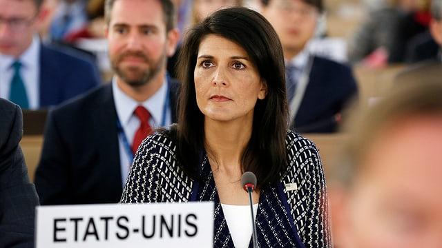Nikki Haley la delegada dals Stadis Unids tar las Naziuns Unidas.