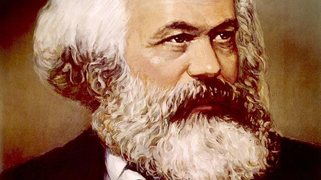 Gemälde von einem älteren Herr mit Bart.