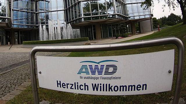 Eingang zu einer AWD-Filiale