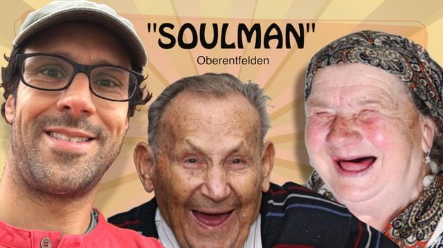 Soulman Flyer mit lachenden Senioren