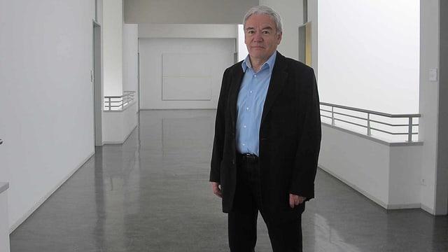 Pius Valier im Gebäude der St. Galler Stadtpolizei