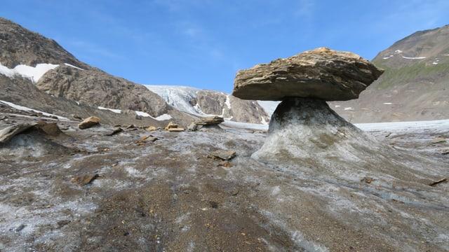 Gletschertisch am 19. Juli auf dem Griesgletscher.