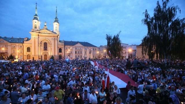 Protest sin plazza a Varsovia.