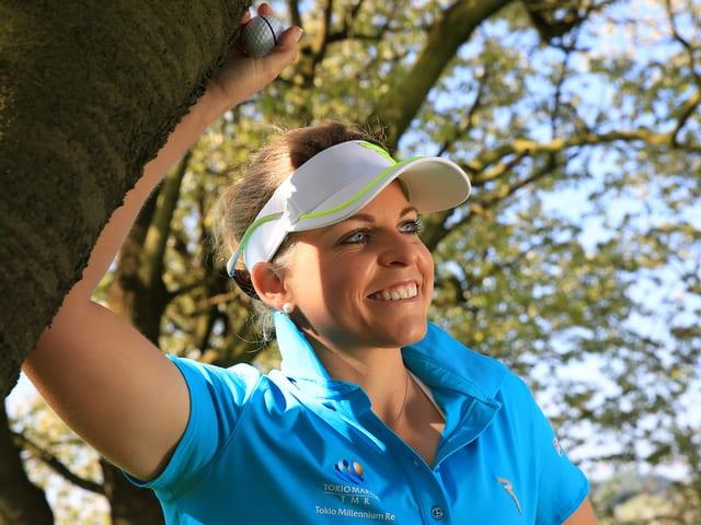 Die Golferin Fabienne In-Albon.