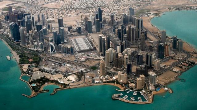 Luftaufnahme von Katar.