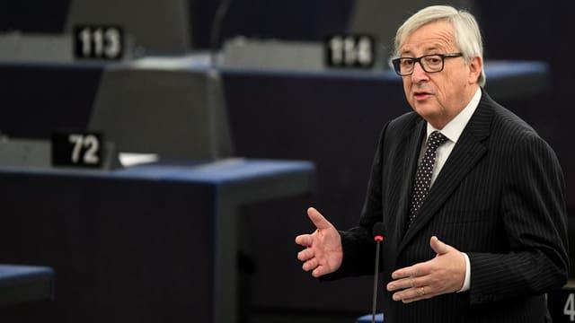 Jean-Claude Juncker spricht im EU-Parlament in Strasburg