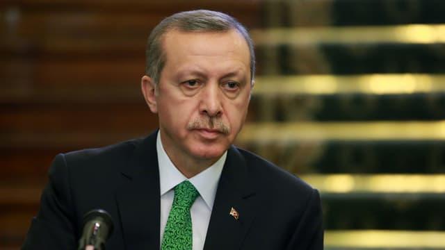 Porträt des türkischen Präsidenten Recep Tayyip Erdogan.