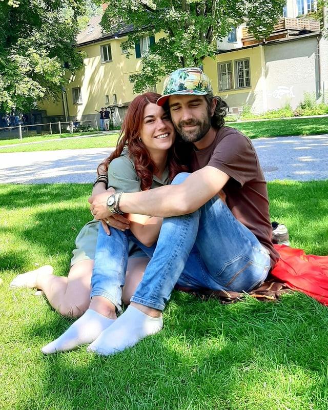 Gian Reto e sia sora Nadine.