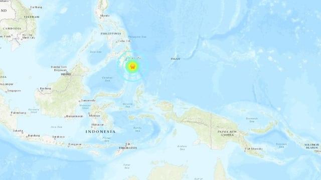 Das Beben ereignete sich südöstlich von Mindanao