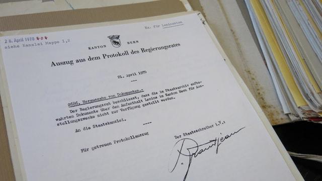 Ausstellungverbot zu Lenin-Akten