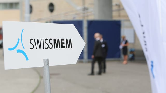 Purtret d'ina tavla che mussa a dretg cun scrit si Swissmem.
