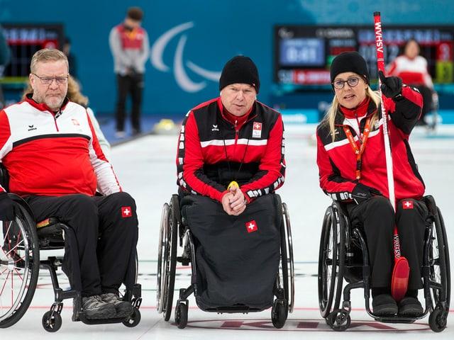 Die Schweizer Curler an den Paralympics