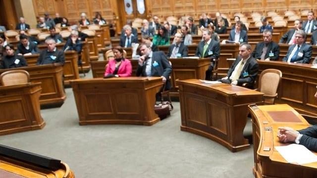 Ein Blick in den Nationalratssaal.