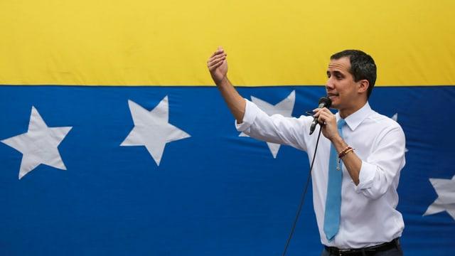 Juan Guaidó bei einer Ansprache
