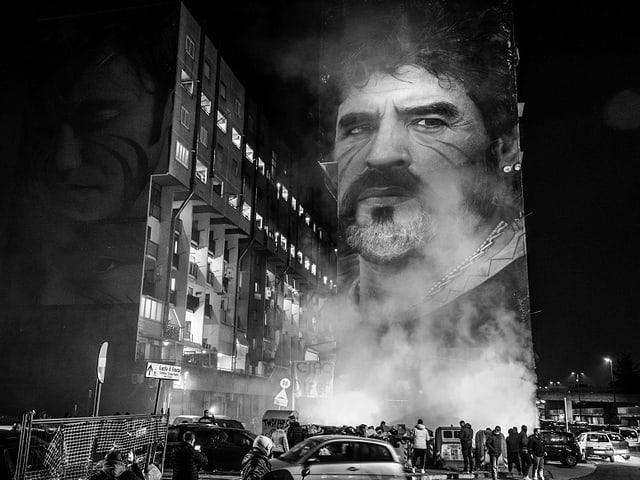 Auch in Neapel wird Diego Maradona gedacht.