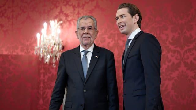 Van der Bellen und Kurz in Wien.