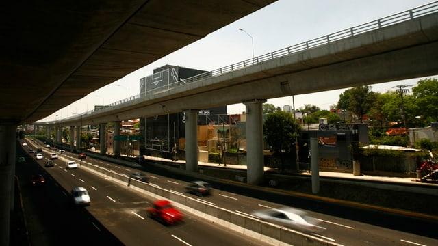 Eine Autobahn in Mexiko.