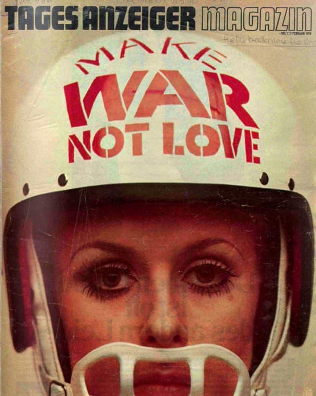 Titelblatt des ersten Tages Anzeiger Magazins aus dem Jahr 1970, bei dem Laure Wyss Mitbegründerin und Co-Leiterin war.