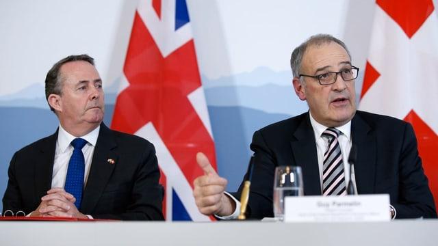 Liam Fox und Wirtschaftsminister Guy Parmelin