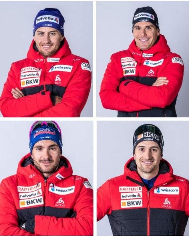 Roman Furger, Jovian Hediger, Jason Rüesch und Ueli Schnider (von links oben nach rechts unten).