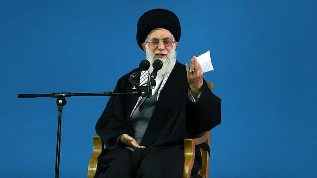 Irans oberster Führer Ajatollah Ali Chamenei, der das letzte Wort in allen strategischen Belangen hat