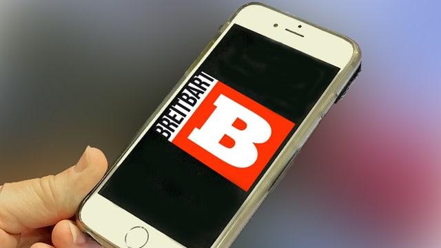 Telefonin cun logo Breitbart.
