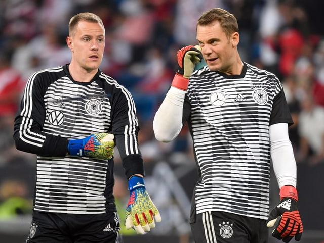 Marc-Andre ter Stegen (links) und Manuel Neuer.