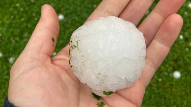 Huge «hailstones» fell from the sky in Steinhausen ZG.