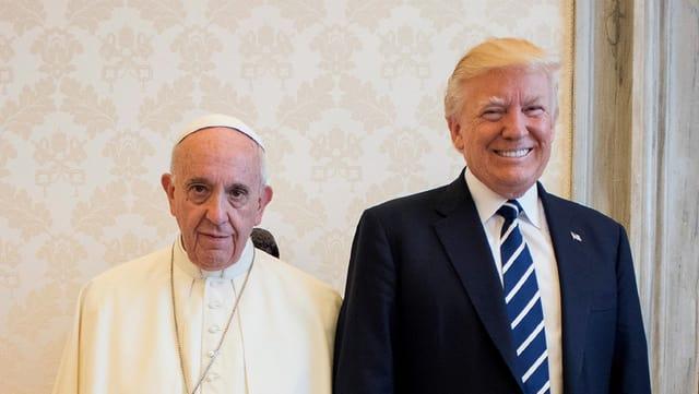 Trump bei seinem Papst-Besuch
