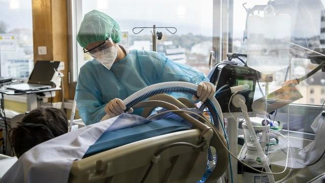 Betreuung von Covid-19-Patienten im Universitätsspital Genf.